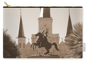 Jackson Square Statue In Sepia Carry-all Pouch
