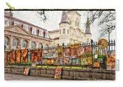 Jackson Square Winter Impasto Carry-all Pouch