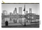 Jacksonville Black And White Ay Carry-all Pouch