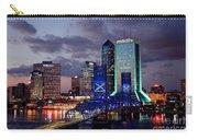 Jacksonville Skyline At Dusk Carry-all Pouch