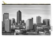 Jacksonville Skyline Morning Day Black And White Bw Panorama Florida Carry-all Pouch