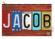 Jacob License Plate Name Sign Fun Kid Room Decor. Carry-all Pouch