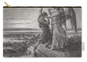 Jacob Wrestling With The Angel Carry-all Pouch by Gustave Dore