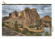 Jagged Peaks And River Reflections Carry-all Pouch