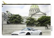 Jaguar Xk And The Capitol Building Carry-all Pouch
