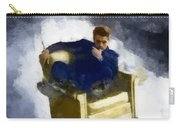 James Dean In Yellow Leather Chair Carry-all Pouch