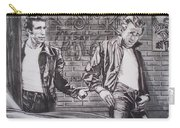 James Dean Meets The Fonz Carry-all Pouch by Sean Connolly