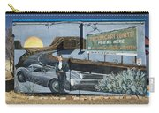 James Dean Mural In Tucumcari On Route 66 Carry-all Pouch by Carol Leigh