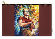 James Dean - Palette Knife Oil Painting On Canvas By Leonid Afremov Carry-all Pouch