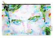 James T. Kirk - Watercolor Portrait Carry-all Pouch by Fabrizio Cassetta