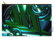 Jammer Blue Green Flux 001 Carry-all Pouch