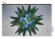 Jammer Blue Red Snow Wreath Carry-all Pouch