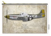 Janie P-51d Mustang - Map Background Carry-all Pouch