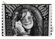 Janis Stamp In A Black And White Vibe Carry-all Pouch
