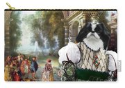 Japanese Chin Art Canvas Print Carry-all Pouch