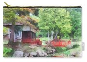 Japanese Garden With Red Bridge Carry-all Pouch
