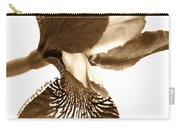 Japanese Iris Flower Sepia Brown Carry-all Pouch