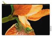 Japanese Iris Orange Black Carry-all Pouch