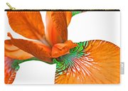 Japanese Iris Orange White Five Carry-all Pouch
