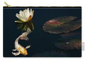 Japanese Koi Fish And Water Lily Flower Carry-all Pouch