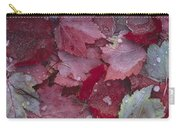 Japanese Maple Leaves With Frost Carry-all Pouch