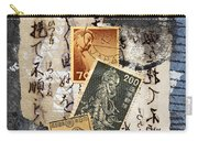 Japanese Postage Three Carry-all Pouch by Carol Leigh