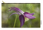Japanese Serenity Columbine Blossom Carry-all Pouch