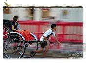 Japanese Tourists Ride Rickshaw In Tokyo Japan Carry-all Pouch
