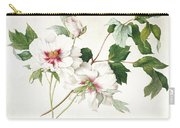 Japanese Tree Peony Carry-all Pouch by  Lucy Cust
