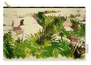 Japanese Washi Garden Reflections Carry-all Pouch
