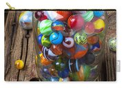 Jar Of Marbles With Shooter Carry-all Pouch by Garry Gay