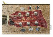 Jay Turser Guitar Head - Red Guitar - Digital Painting Carry-all Pouch by Barbara Griffin