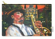 Jazz By Street Lamp Carry-all Pouch