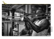 Jazzy Trombone Music-bw Carry-all Pouch