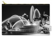 J.c. Nichols Memorial Fountain - Night Bw Carry-all Pouch