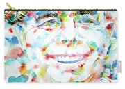 Jean Renoir Watercolor Portrait Carry-all Pouch