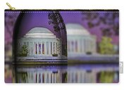 Jefferson Memorial In A Bottle Carry-all Pouch by Susan Candelario