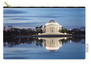 Washington Dc Jefferson Memorial In Blue Hour Carry-all Pouch
