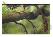 Jeholornis Prima Perched On A Tree Carry-all Pouch by Sergey Krasovskiy