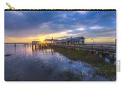 Jekyll Island Sunset Carry-all Pouch by Debra and Dave Vanderlaan