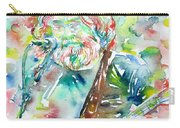Jerry Garcia Playing The Guitar Watercolor Portrait.2 Carry-all Pouch