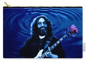 Blue Ripple Rose Carry-all Pouch