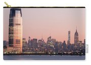 Jersey City And New York City  With Manhattan Skyline Over Hudso Carry-all Pouch