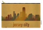 Jersey City New Jersey City Skyline Watercolor On Parchment Carry-all Pouch