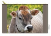 Jersey Cow With Attitude - Square Carry-all Pouch