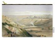 Jerusalem April 5th 1839 Carry-all Pouch by David Roberts