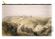 Jerusalem From The Mount Of Olives Carry-all Pouch by David Roberts