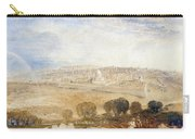 Jerusalem From The Mount Of Olives Carry-all Pouch by Joseph Mallord William Turner