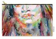 Jessye Norman - Watercolor Portrait Carry-all Pouch