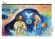 Jesus And Mary Cloud Colored Christ Come Carry-all Pouch